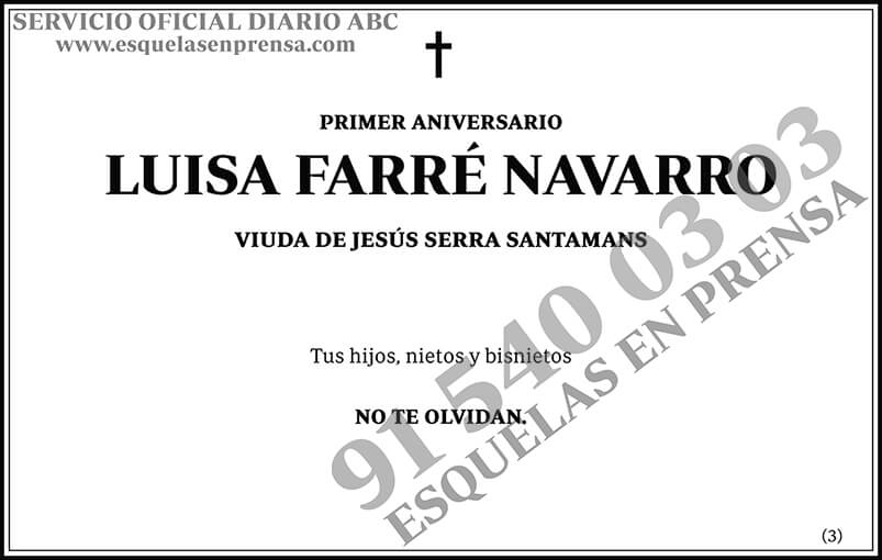 Luisa Farré Navarro